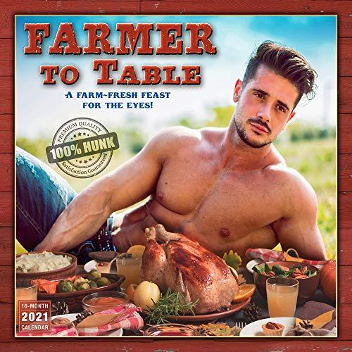 2021 Farmer to Table: Premium Quality 100% Hunk 16-Month Wall Calendar