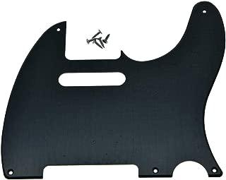 KAISH 5 Hole Vintage Tele Guitar Pickguard Scratch Plate fits USA/Mexican Fender Telecaster Matte Black 1 Ply
