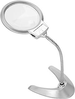 ルーペ ライト付き 携帯 スタンドルーペ 5倍/2倍 拡大ルーペ 読書ルーペ ルーペ拡大鏡 130mm 2LED 拡大鏡 360 レンズ径13cm 虫眼鏡 高倍率 折りたたみ式