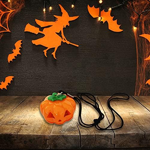 Muium(TM) Velas LED de Halloween, luces de calabaza, sin llama, velas LED sin llama, velas parpadeantes, funcionan con pilas, para decoración de Halloween, boda, fiesta, Navidad (E)