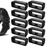 10 Pezzi Anello di Sicurezza per Cinturino, Anelli di Sicurezza di Ricambio, Anello di Ritegno Orologio Cinturino, per Cinturino per Dimensioni interne 18 × 5 mm, Nero