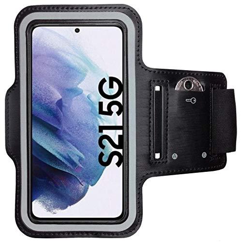 CoverKingz Brazalete deportivo para Samsung Galaxy S21 5G, con compartimento para llaves, Galaxy S21 5G, color negro