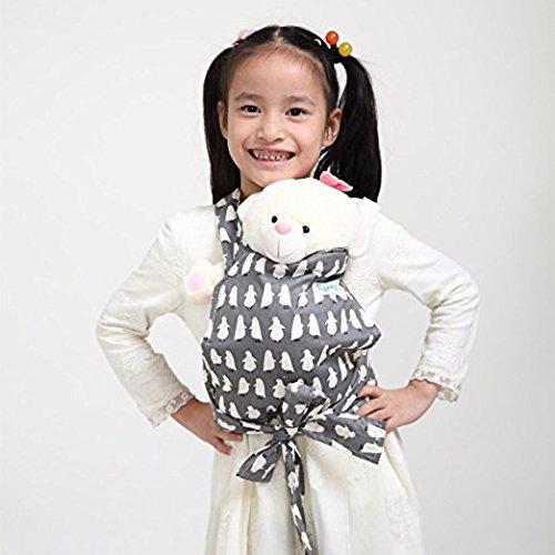 Baby Doll Carrier Mei Tai Sling Toy pour enfants Enfant enfant en bas d'enfant Dos, Mini-porteuse, Hibou, Dot, Fleur, Kaléidoscope (Penguin)