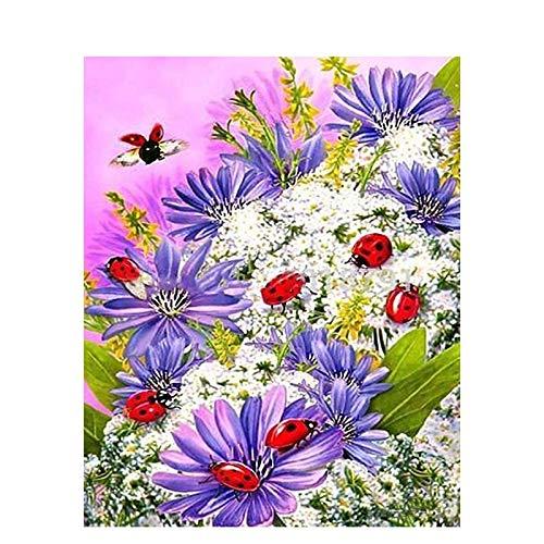 Pintura de flores por números para adultos, niños, pintura al óleo pintada a mano DIY, decoración del hogar, regalo único A20, 45x60cm