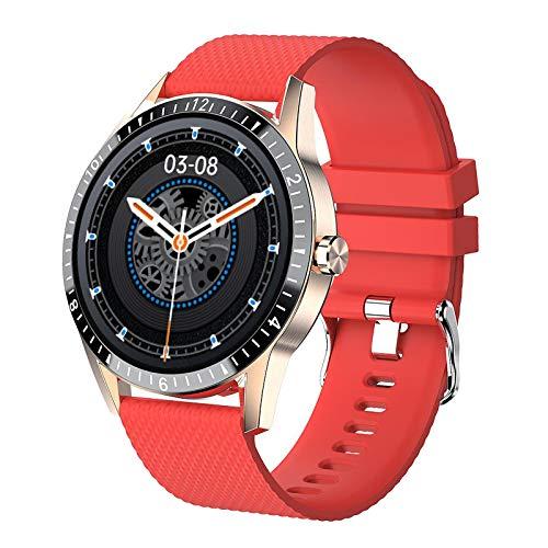 B Blesiya Reloj Inteligente Deportivo de música de Negocios de Moda Impermeable Bluetooth Llamada Fitness Tracker, batería Larga - Rojo