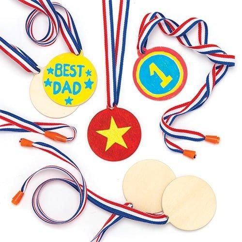 Baker Ross- Medallas de Madera Que los niños Pueden Pintar y Decorar...