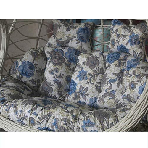 Swing stoel kussen, opknoping hangstoel kussen rieten nest opknoping stoel rug kussen 2 personen zitplaats dikke rits verwijderbare n 140x110cm kleur: I, Maat : 140x110cm (55x43inch)