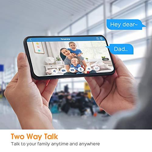 Panamalar WLAN IP Kamera, 3MP Innen Überwachungskamera 350°Schwenkbar FHD unterstützt LAN & WLAN Verbindung/Alexa/2 Weg Audio/Nachtsicht usw, Indoor Baby Kamera für Baby/Haustier PC Handy app