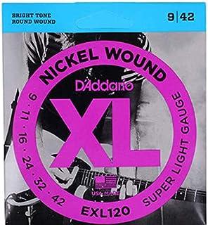 D'Addario Electric Guitar Strings XL Nickel Wound EXL120 Daddario
