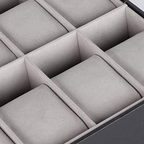 Caja de almacenamiento de relojes de madera, para relleno de esponja, para organizar todos sus relojes comunes