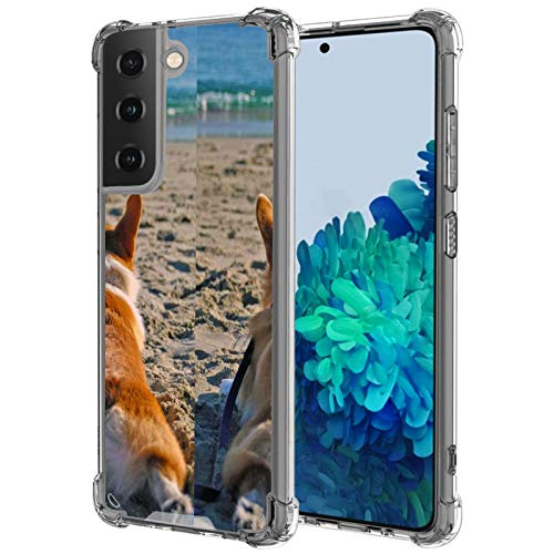 LSL Crystal Clear Designed for Samsung Galaxy S21 Plus Case Corgi Shockproof Protective Phone Case Slim Thin Cover for Samsung Galaxy S21 Plus - Clear