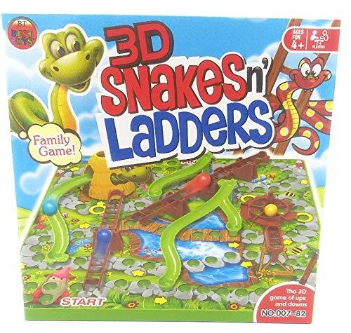 Juego de Mesa de Serpientes y escaleras 3D, diversión Familiar