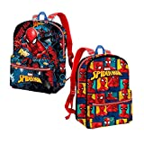 Karactermania Spiderman Smash-Reversible 2-in-1 Backpack (Small) Kinder-Rucksack, 31 cm, 7.5 liters, Blau (Blue)