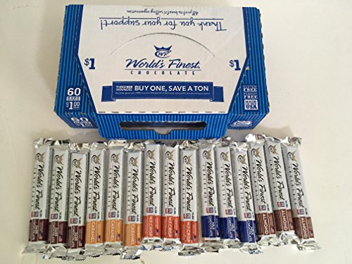NEW and IMPROVED - 15 Bars - World's Finest Chocolate -Variety Pack