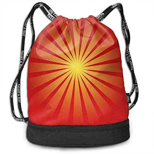 Sunburst - Mochila con cordón, portátil, para ocio, deporte, gimnasio, viajes, bolsa de hombro, 35 x 40 cm