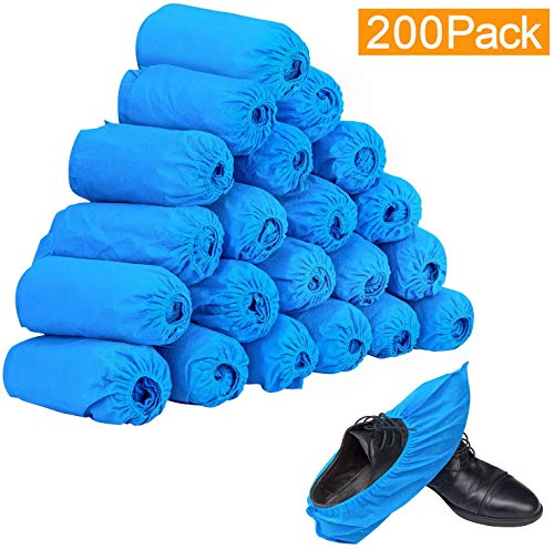 Indoor Carpet Floor Protection Workplace non-toxic blue Durable stretchable Boot /& Shoe Covers for Medical Recyclable non-slip 100 Pack Premium Disposable Boot /& Shoe Covers Construction