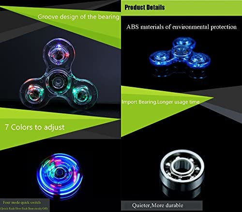 Blue glow in the dark fidget spinner _image0