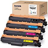 [con Chip] BONINK Compatible con Brother TN-247 TN247 TN-243 Tóner para Brother MFC-L3710CW MFC-L3750CDW MFC-L3770CDW HL-L3210CW DCP-L3550CDW (Negro/Cian/Magenta/Amarillo)