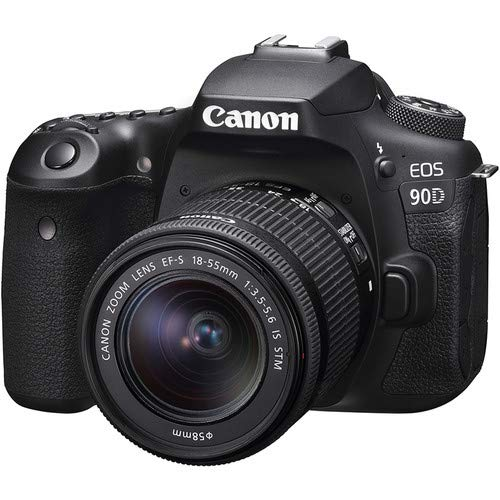 Canon EOS 90D DSLR Camera + Canon EF-S 18-55mm + Canon EF-S 55-250mm Lens
