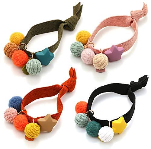 Chingde Corda per capelli palla, 8 pezzi di fasce per capelli Pom, lacci per capelli colorati, elastico per capelli, lacci per capelli coda di cavallo, fascia per capelli elastica in pelliccia