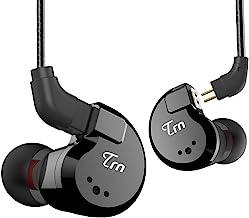 TRN V80 HiFi Earphone 2 Dynamic & 2 Balanced Armature Driver Stereo Bass IEM, Metal in Ear Headphone, Stage/Studio in Ear ...