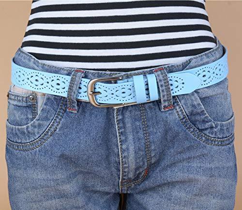 LOCOTECH Cinturón para mujer, azul claro, 105 cm