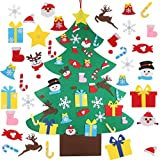 4FT DIY Felt Christmas Tree Set with 36pcs Ornaments - Xmas Decorations Wall Hanging DIY Felt Xmas Tree for Kids Toddlers Christmas New Year Craft Gifts Party Supplier Home Door Decor