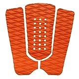 xldiannaojyb Almohadillas de tracción de la Cubierta Antideslizante de 3pcs / Set de la Tabla de Surf de la Tabla de Surf para skimboards de Stomp skimboards, un Tablero de Pescado (Color : Orange)
