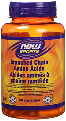 NOW Branched Chain Amino Acid 60 Capsules, 40 g