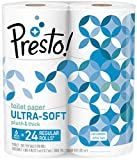 Amazon Brand - Presto! 308-Sheet Mega Roll Toilet Paper, Ultra-Soft, 6 Count