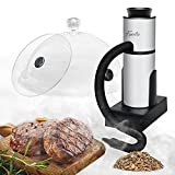 Foneta Smoking Gun Cocktail Smoker Kit with Wood Chips, Dome & Cup Lid, Portable Indoor Smoke Infuser for Food Cooking, Cocktail Drinks, Whiskey, Steak, Salmon, Cheese, BBQ and Pizza