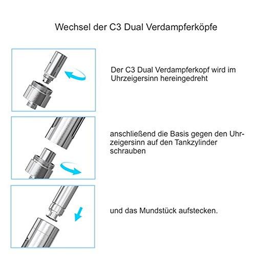 Joyetech C3 DUAL Verdampferkopf, 5 Stück, 1,6 Ohm