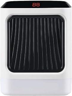 Zxcvbnm Mini Ventilador de Aire Acondicionado Calentador de Escritorio Ángulo de Suministro de Aire de 45 ° 7 Luces LED Frío y cálido Fácil de Transportar Habitación Familiar Dormitorio Oficina