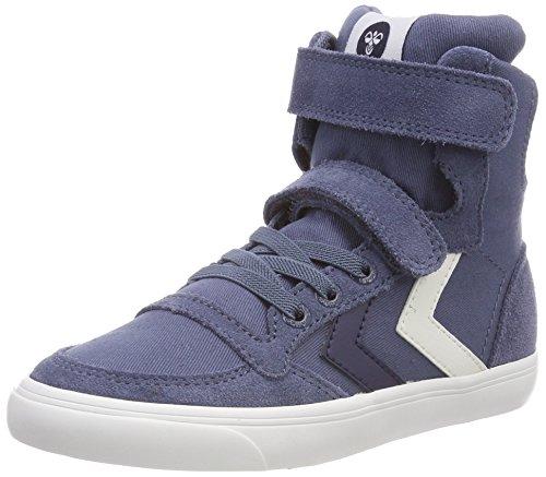 hummel Unisex-Kinder Slimmer Stadil HIGH JR Hohe Sneaker, Blau (Vintage Indigo), 38 EU