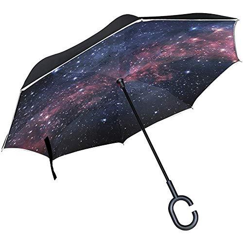mengmeng Reverse/Inverted Double-Layer Straight Umbrella, 0611 (115) Selbstständige und tragende Tasche für freie Hände
