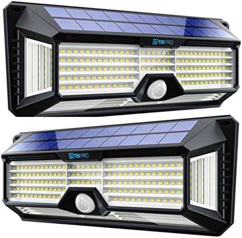 Solar Lights Outdoor Super Bright 298 LEDs 2500lm LED Solar Motion Sensor Lights Outdoor for product image