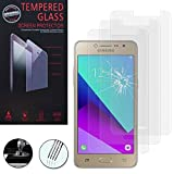 AnnaRT® [3 piezas Protector de pantalla de cristal templado para Samsung Galaxy Grand Prime Plus J2 Prime, transparente