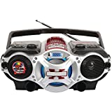Supersonic Prod. SC-1495BT Bluetooth Am-FM Boombox in Red