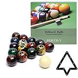 BEKZILY Billiard Ball Set Professional Pool Table Billiard Balls (Black)