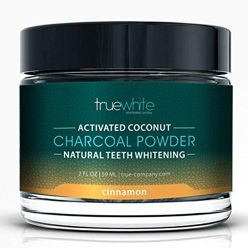 TrueWhite Teeth Whitening Activated Charcoal Powder, All Natural Tooth Whitening, Perfect Teeth Whitener w/Charcoal Powder & Coconut - MSRP $144 (Cinnamon, 1 Pack)