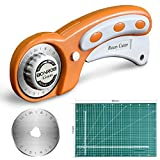 BONROB Rotary Cutter and Mat Set, with 12x18 Inch (A3) Double Sided Cutting Mat and 1 PCS ...