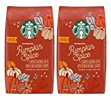 Starbucks Pumpkin Spice Flavored Ground Coffee - Warm & Balanced, No Artificial Flavors - 11 OZ (Pack of 2)