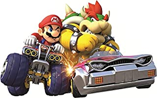 Nintendo 12 Inch Wii Kart 8 Bowser Decal Super Mario Bros Brothers Removable Peel Self Stick Wall Sticker Art Home Decor (Decoration for Walls Laptop Yeti Tumbler) 12 by 8 inch