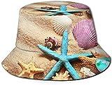 Gorras Sombrero de Pescador Estrella de mar Concha de mar Visera de Viaje Sombrero para el Sol Pesca Fisher Beach Festival Gorra para el Sol