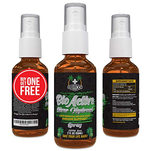 2 for 1 Sale Silver Doc Silver Hydrosol Spray (2- 2oz Bottles), Natural Alternative & Immune Support, Better Than Any Colloidal, Silver Doc is Most Effective