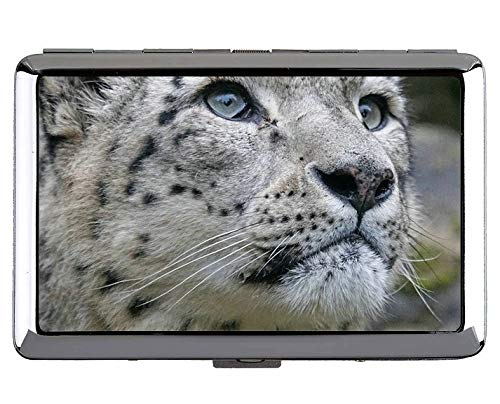 Hard Box Full Pack Zigarettenetui, Snow Leopard Wild Leopard Tasche Zigarettenetui