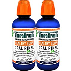 PERIODONTAL MOUTHWASH: Regular use of TheraBreath Healthy Gums Orals Rinse may help address bleeding gums, gingivitis, plaque & tartar buildup, & bad breath. Dentist-formulated support for healthy gums! FRESH MOUTH, HEALTHY GUMS: Attack bad breath at...
