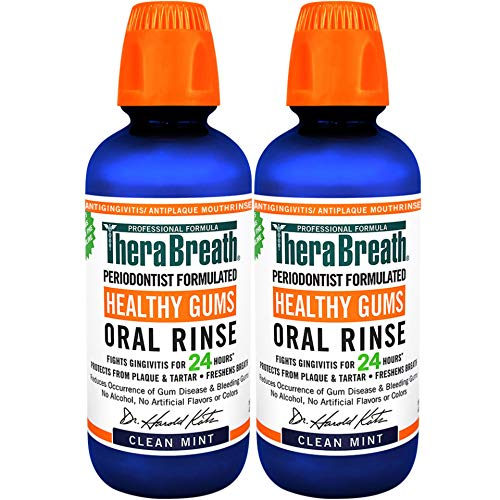 TheraBreath 24 Hour Healthy Gums Periodontist Formulated CPC Oral Rinse, 16 Ounce (Pack of 2)