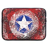 Protective Laptop Sleeve Bag Captain America Art Notebook Tablet Bag for 13-15 Inch MacBook Air