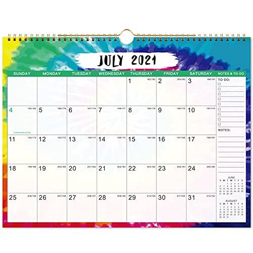 Calendario de pared 2021-2022, de julio de 2021 - Diciembre de 2022, calendario de 18 meses, 14.8 x 11.5 pulgadas, unido con alambre, papel grueso para organizar y planificar